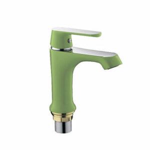 1033 Смеситель Тюльпан Frap шар. d-35 (зеленый/хром)