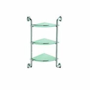 1507-3/L Полка 3-ая хром/стекло угловая