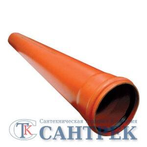 200 труба наружная 1 м (ПВХ, толщ.4.9мм)