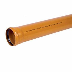 200 труба наружная 3 м (ПВХ, толщ.4.9мм)