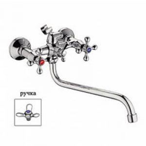 2212 Смеситель Ванна LEDEME 1/2 м/к ш/перключение 3-х лепестк. LUX