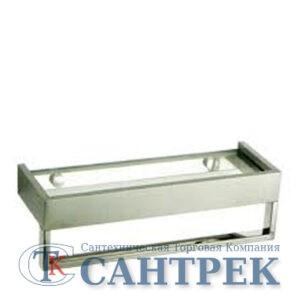 359/L Полка 1-я нерж. 35х12см + полотенцедержатель