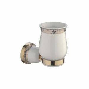 3606G/L Стакан одинарный настенный (керамика/золото)