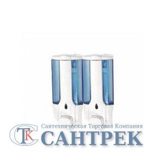 406-1/L Дозатор для жидкого мыла настенный двойной