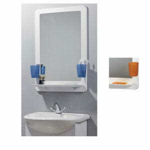 4499-1/99-2SPM Зеркало 'ORIO-prime', зеркало-белый пласт.+стакан, мыльница ОРАНЖЕВЫЕ