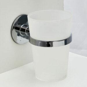 5706/L Стакан одинарный настенный (пластмасса) самоклеющийся