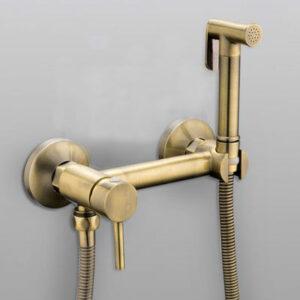 7503-4 Гигиенический душ FRAP со смесителем (латунь-бронза)