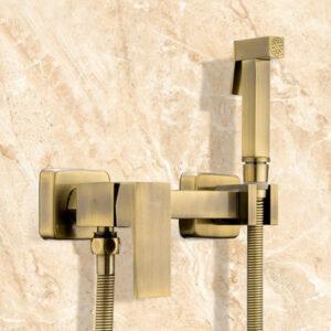 7504-4 Гигиенический душ FRAP со смесителем (латунь-бронза)