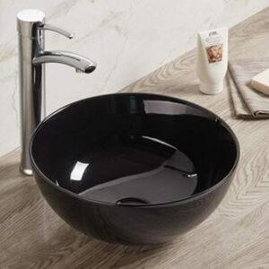 800-107В Раковина для ванной черный MELANA