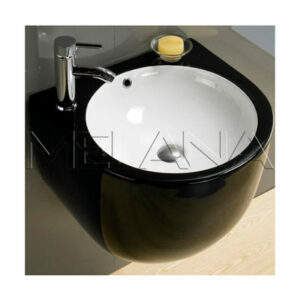 800-500 FBW Раковина для ванной подвесная (черная) 495Х485Х415 MELANA