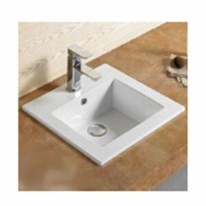 800-9048B (6037) Раковина для ванной врезная 410х410х170 MELANA