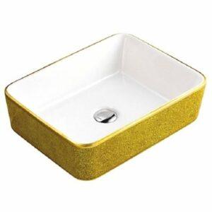 800-А022-S02 Раковина для ванной MELANA (желтый кристалл)