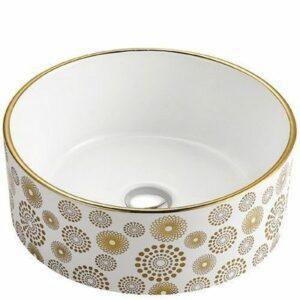 800-А091 Раковина для ванной золото MELANA