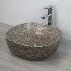 800-А420-CV11 (камень) Раковина для ванной MELANA