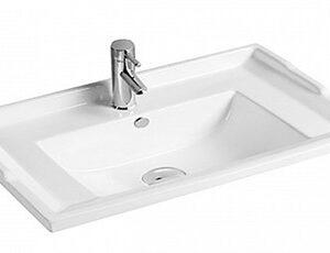 800-F80 Раковина для ванной прямоугольня, врезная 810,5х470х220 MELANA