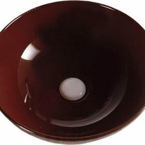 800-Т4005-В7 Фигурный умывальник (коричневый) MELANA