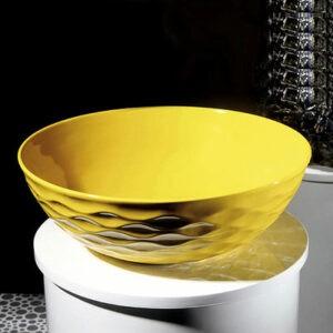 800-Т4010-В6 Раковина для ванной MELANA (желтая)
