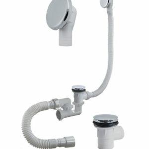 А-26089 Cифон для ванны (обвязка) ОРИО 1 1/2'х40, регул,'КЛИК-КЛАК', с метал перел и гиб тр 40-40/50