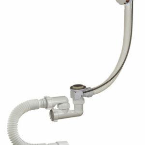 А-28089 Cифон для ванны (обвязка) ОРИО 1 1/2'х40, регул., с перел. и гиб.трубой 40-40/50 (полуавтом)