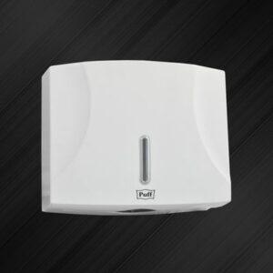 Диспенсер бумажных полотенец Puff-5125 пластик, БЕЛЫЙ/глянец, для листов Z и V сложения