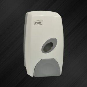 Дозатор для жидкого мыла настенный Puff-8115 1л, пласт. белый, съемн. контейнер, потайная кнопка