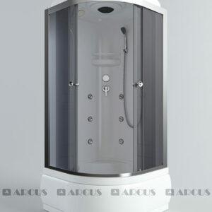 Душ. кабина АRCUS AS-103 (G) 90*90*215 выс.под., зад.стенка ABS, стекла сер.тонир., проф. хром 3к