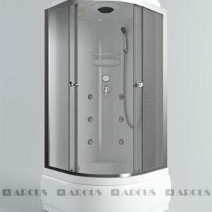 Душ. кабина АRCUS AS-113 100*100*215 выс.под. зад. стенка ABS, стекла мат., проф. хром. 3к