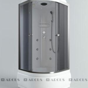 Душ. кабина АRCUS AS-113 (G) 100*100*215 выс.под., зад.стенки ABS, стекла сер.тонир., проф. хром 3к