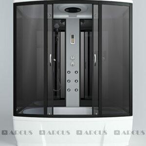 Душ. кабина АRCUS AS-206 170*85*220,выс под,. зад.стен черн.,стекла тонир., проф.черн.,упр.эл. 5к