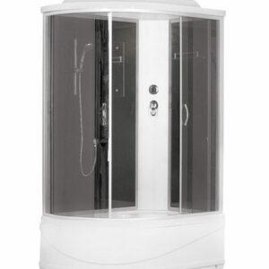 Душ. кабина ER3512TPR-C4-RUS 120*80*215см,зад.ст чер.стекло выс. под.без г/м тон..ст. проф.хром.3к.