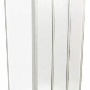 Душевая дверь прямая САНТРА 900х1850 вотер пластик 3 створки (без поддона и автослива)