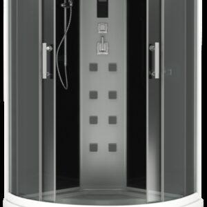 Душевая кабина АРОНА 100х100 (черн. модерн, пульт черн.), шторка графит, 3 коробки (ДК00011)