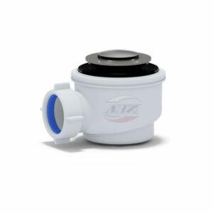 E415CLG Сифон для душевого поддона 1 1/2*50 с г/т 375 хром, клик-клак (грибок)