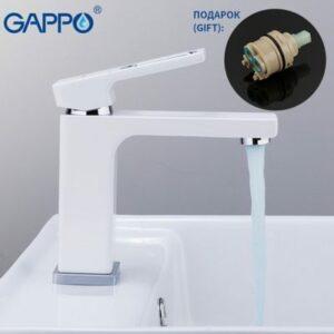 G1017-8 Смеситель Тюльпан GAPPO шар. d-35 на гайке (белый/хром))