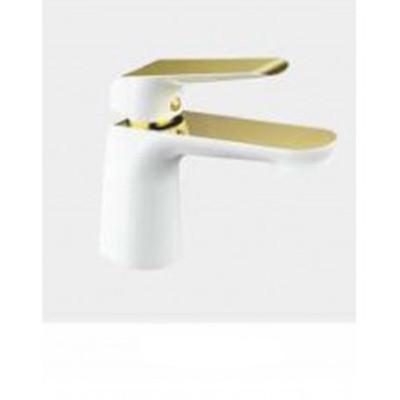 G1080 Смеситель Тюльпан GAPPO шар. d-25 белый/золото - 1