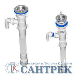 G108 Гофросифон Ани 1 1/2'*40/50 с отводом под с/м