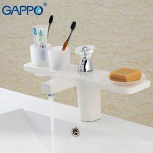 G1096-8 Cмеситель Тюльпан GAPPO d-35 (белый)
