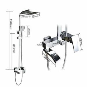 G2407-4 Душевая система GAPPO с верхним душем и ручной лейкой, излив-переключатель на лейку(бронза)