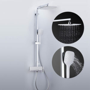 G2417-8 Душевая система GAPPO излив-переключатель на лейку,, белый/хром