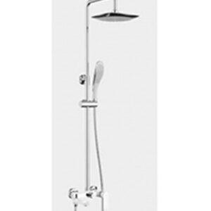 G2448 Душевая система GAPPO с верхним душем, смесителем, белый/хром