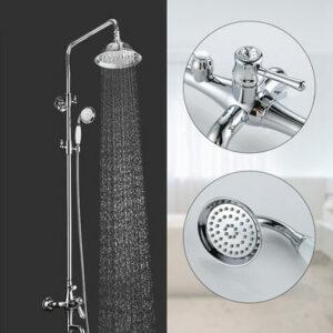 G2497 Душевая система GAPPO с верхним душем и ручной лейкой с хрустальной ручкой