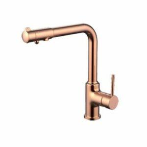 G4390-3 Смеситель Кухня GAPPO шар d-35 с доп выходом для питьевой воды (красное золото)