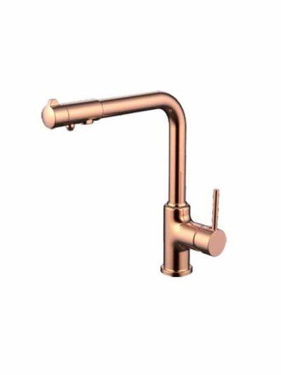 G4390-3 Смеситель Кухня GAPPO шар d-35 с доп выходом для питьевой воды (красное золото) - 1