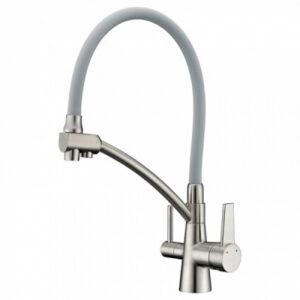 G4398-10 Cмеситель Кухня GAPPO d-35 c подключением фильтра питевой воды (сатин)