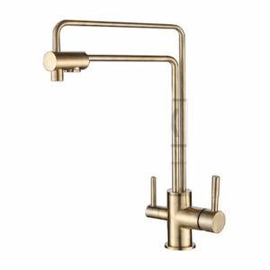 G4398-6 Cмеситель Кухня GAPPO d-35 c подключением фильтра питевой воды (бронза)
