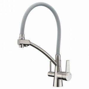 G4398 Cмеситель Кухня GAPPO d-35 c подключением фильтра питевой воды (сатин)
