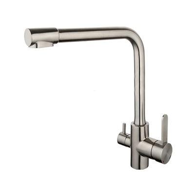G4399-1 Cмеситель Кухня GAPPO d-35 с подключением фильтра питьевой воды НЕРЖАВЕЙКА - 1