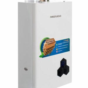 Газовый водонагреватель Mizudo ВПГ4-11Т 11л. белый (11л/мин, 22кВт,медн.тепл, полутурбо, 2 года гар)