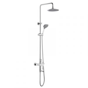 К19015W Душевая система GERHANS d-35 со смесителем и тропическим душем (белый/хром)