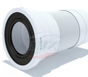 K711R Удлинитель гибкий для унитаза , короткий, выпуск 110 мм